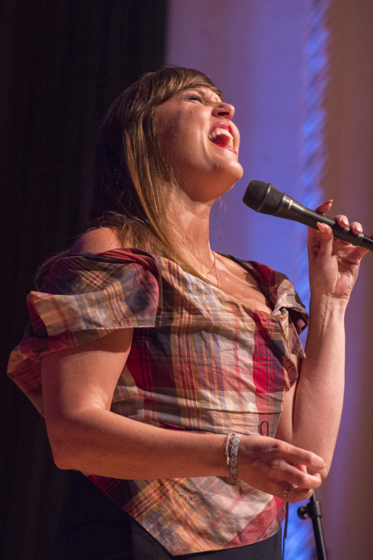 Natalie Williams at the College's Memorial Hall