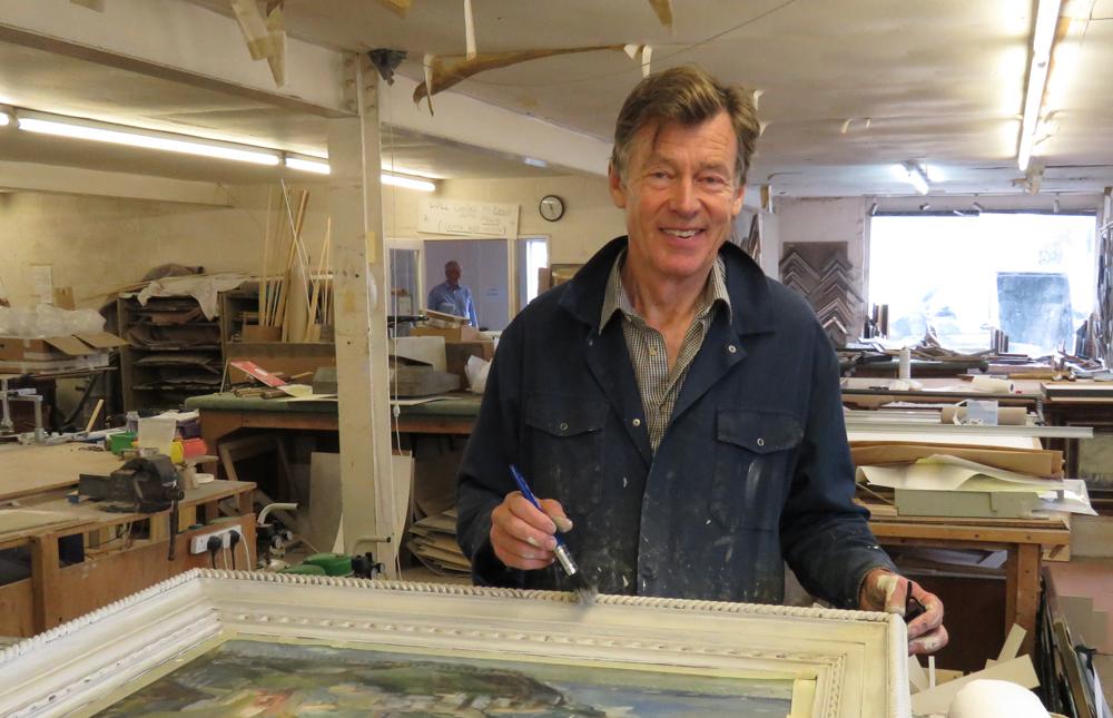 Phillip Elletson in the Pewsey workshop