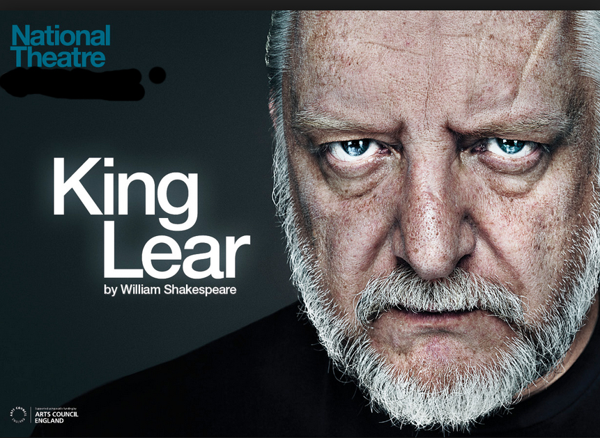 A National Theatre poster for King Lear with Simon Russell Beale