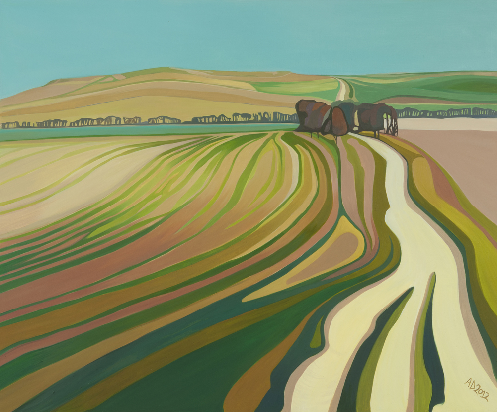 Towards Uffington - by Anna Dillon