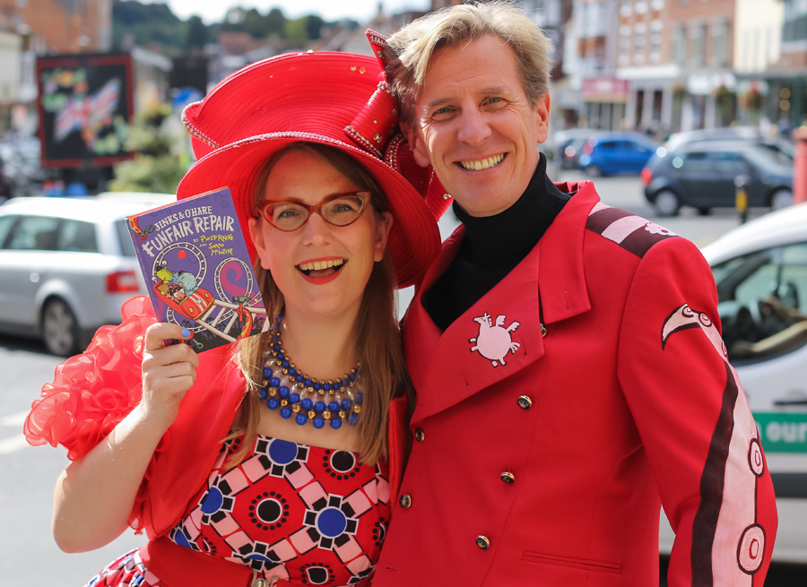 Children's authors Sarah McIntyre & Philip Reeve (All photos copyright Ben Phillips Photgraphy)