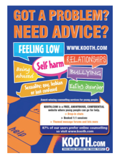 A poster for an the online services designed for teenagers