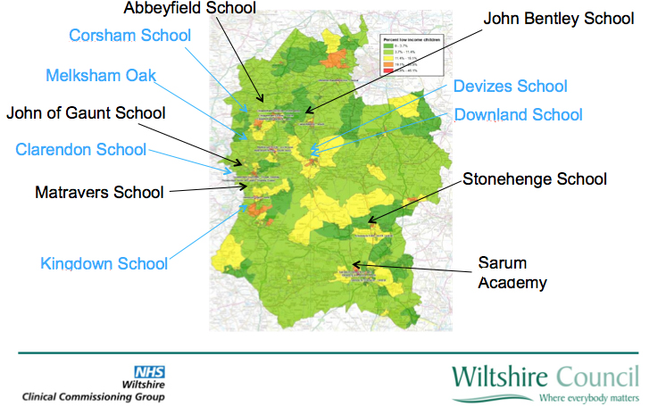 The first six schools to get Thrive Hubs are named in black - the second six in blue (click on image to enlarge it)