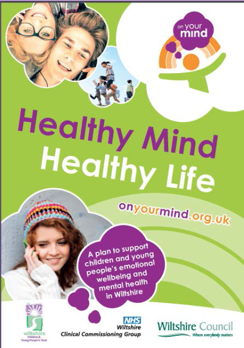 The cover of the Wiltshire transformation plan for children & young people's mental health services