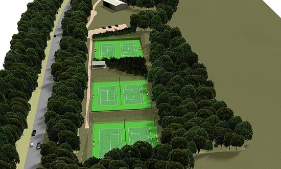 Artist's impression of the new Tennis Club home adjacent to Port Hill on the A346