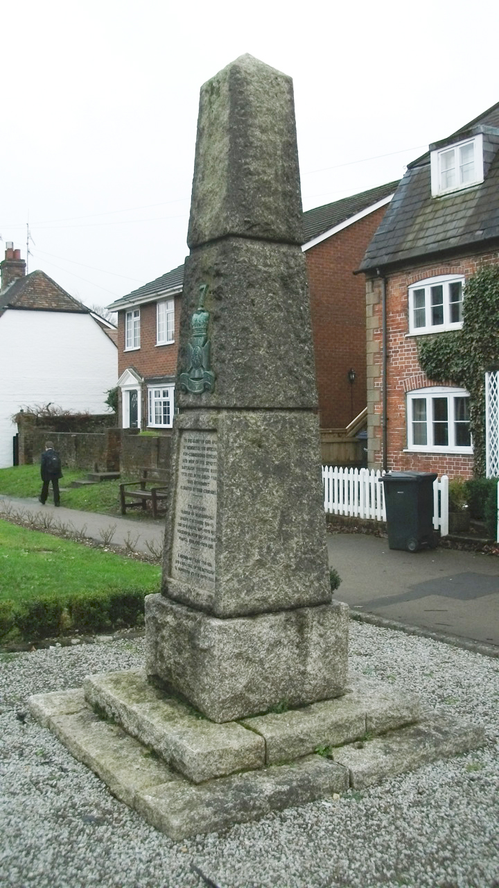 The London Road memorial to the 7th Battalion (David Chandler)