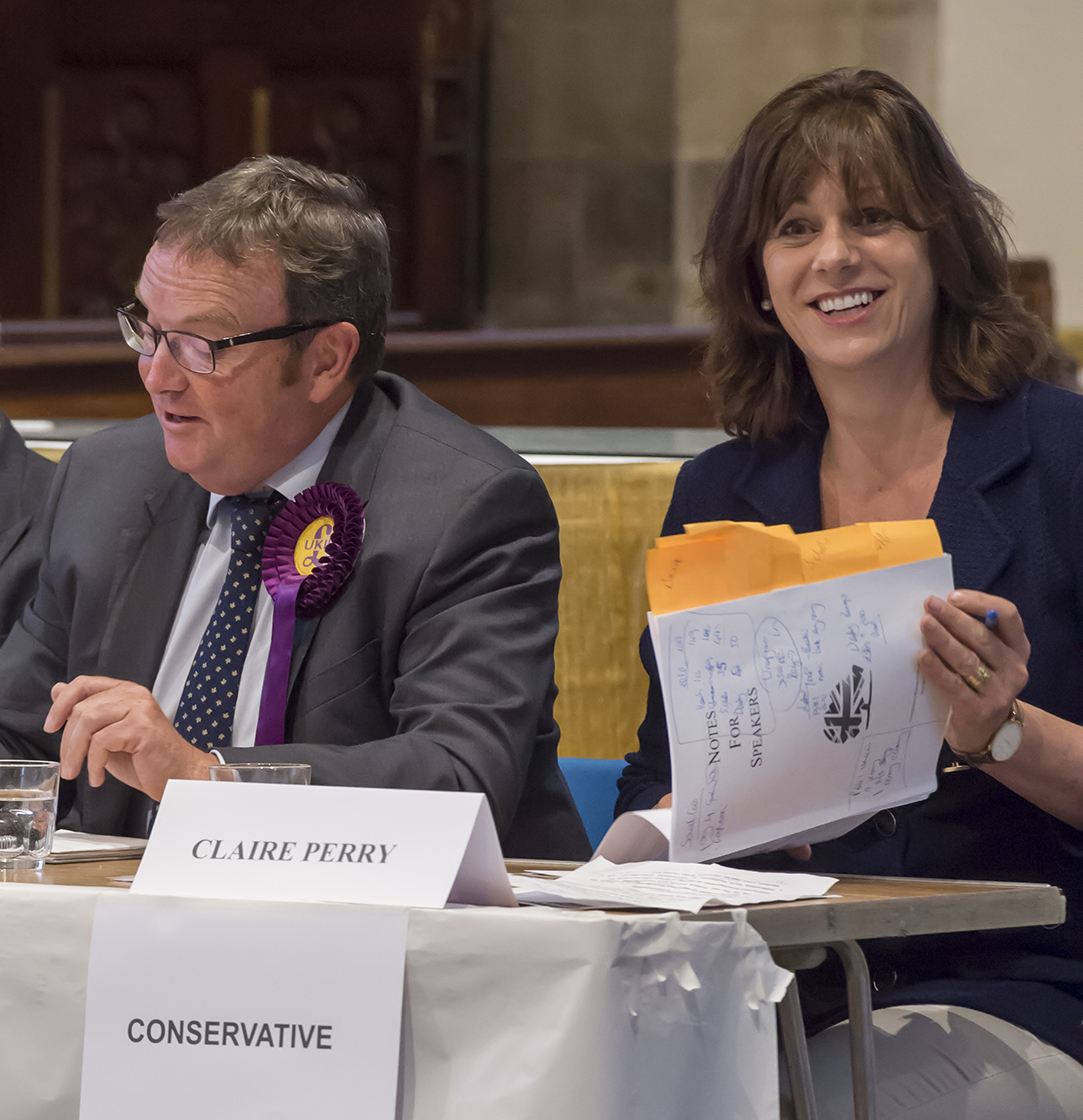 UKIP's Tim Page speaking...Mrs Perry with her 'Notes for Speakers'