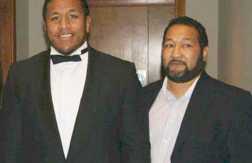 New Marlborough Rugby Club Director of Coaching, Elias Vunipola with nephew and Mako