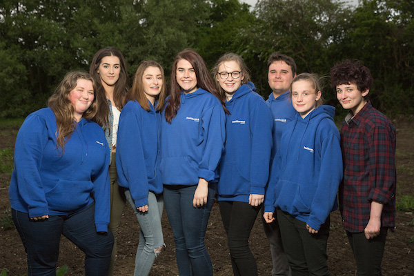 The Young Listeners: L to R - Lucy Owen-Baines,  Elley-May Timmins, Zoe Radford - all from Calne.  Becky Burchell & Zoe Tonks from Chippenham. Scott Kane from Trowbridge, Elizabeth Bools from Melksham & Kerry McKenzie from Westbury.
