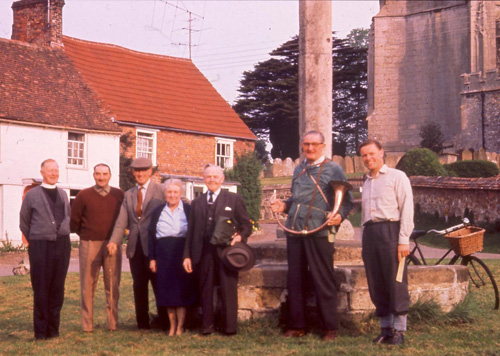 1966: Dr Trevor Tiplady (right) ready for a Beating the Bounds ceremony (photo courtesy Joanne Hutchings)