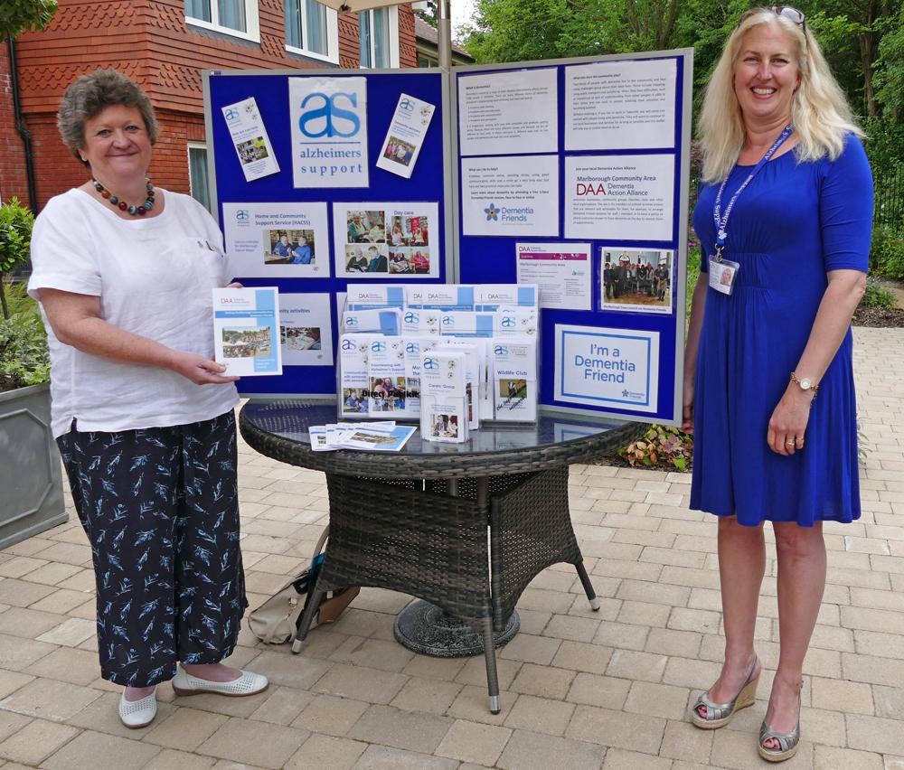 Alison Hesketh (Dementia Action Alliance ) (left) with Sarah Marriott (Alzheimer's Support Wiltshire)