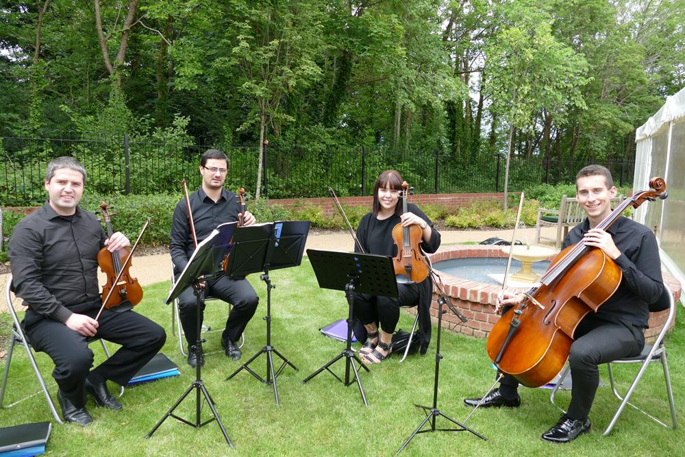 The 440 String Quartet played in Savernake View's garden