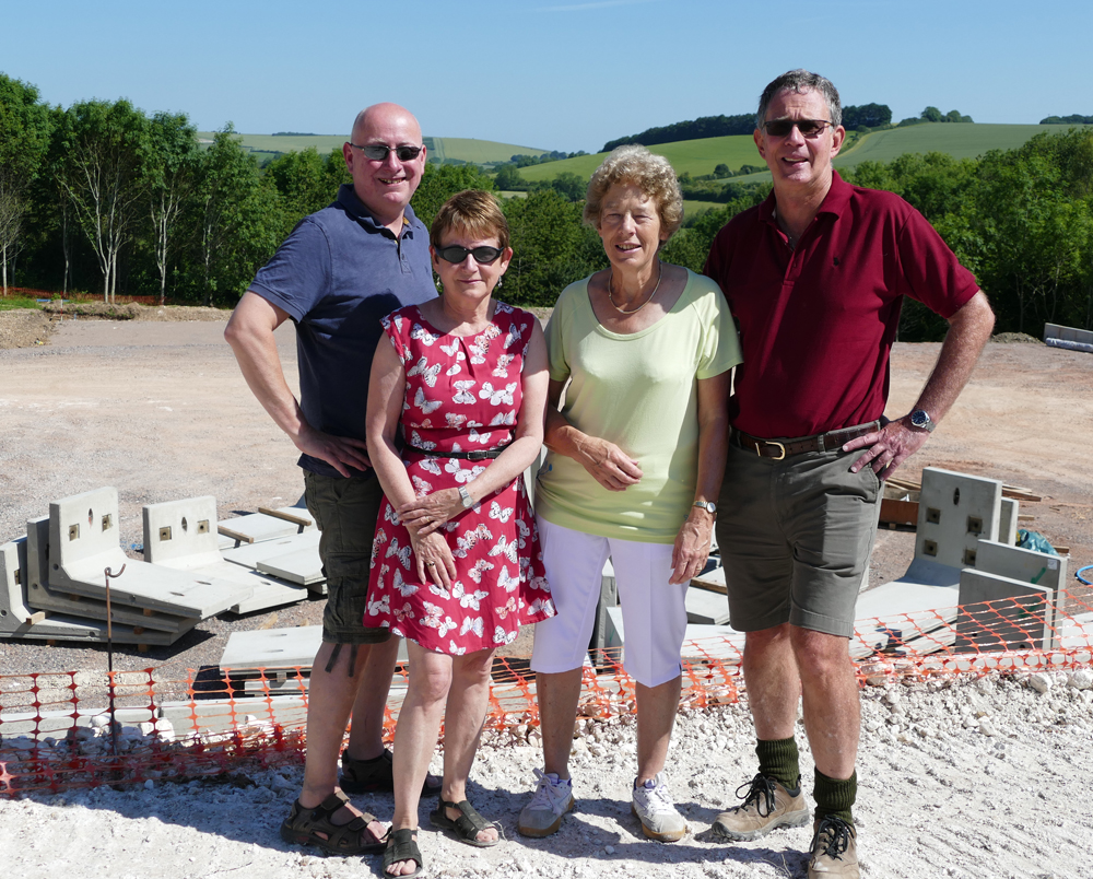 L to R: Richard Clarke (National Association of Areas of Outstanding Natural Beauty) with Susan Clarke & from Marlborough Tennis Club, Anne Carroll & Gareth Clarke