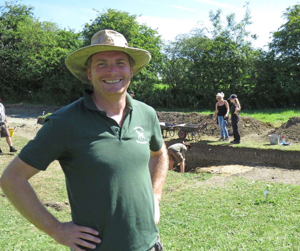Dr Jim Leary at the Marden site (July 2017)