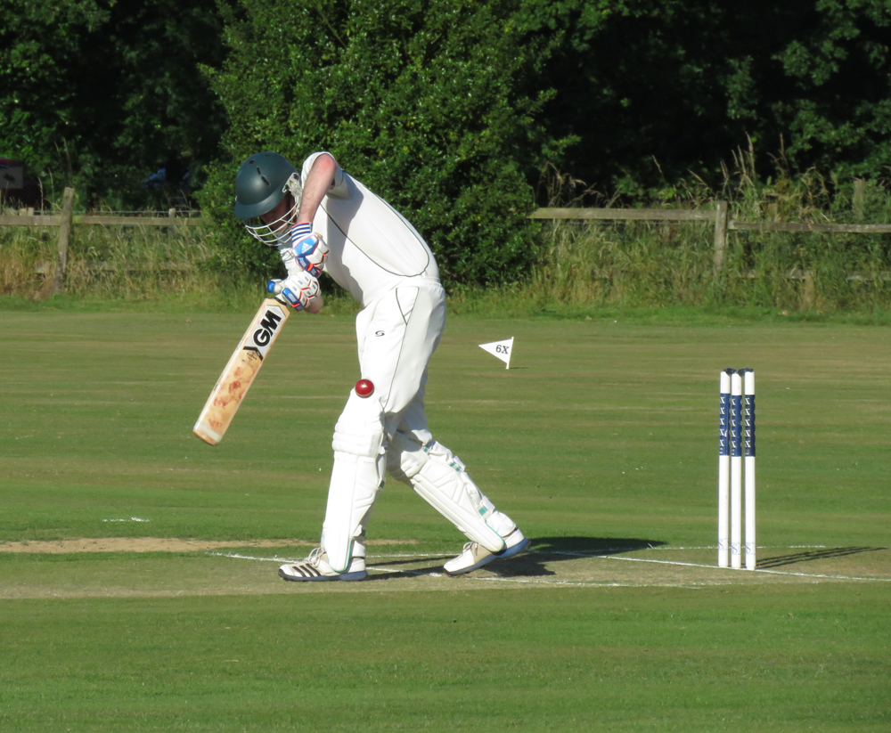 Andrew Crabbe turns the ball to leg