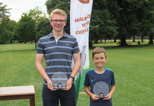 Tom Amer (left and Samuel Perez Kolenkiewicz, MYFC Players of The Year