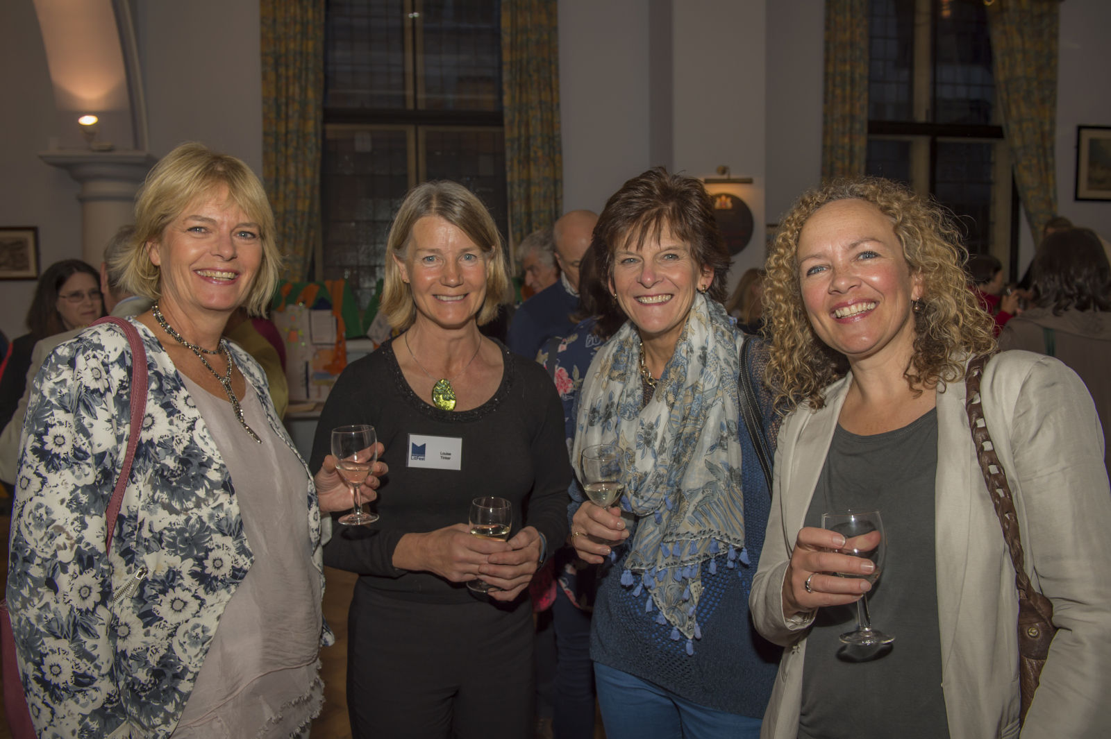 (l to r): Jo Beddall - St Francis School, Louise Tinker - LitFest, Elaine James and Laura Briscall both of St Francis School