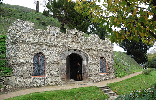 The Grotto in the mysterious Marlborough Mound, Diana Reynell's masterpiece of restoration