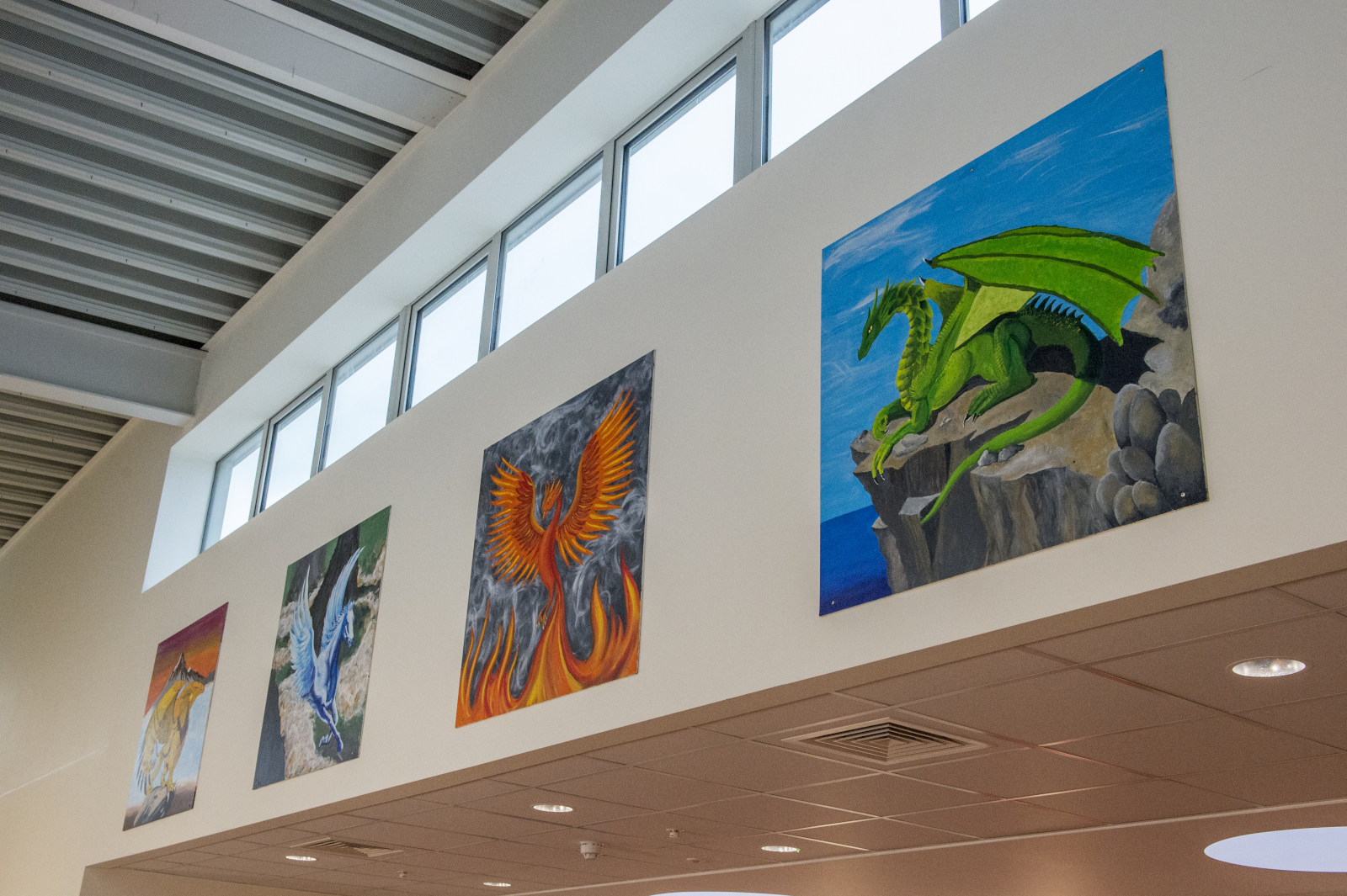Works of Art created by pupils for the new school