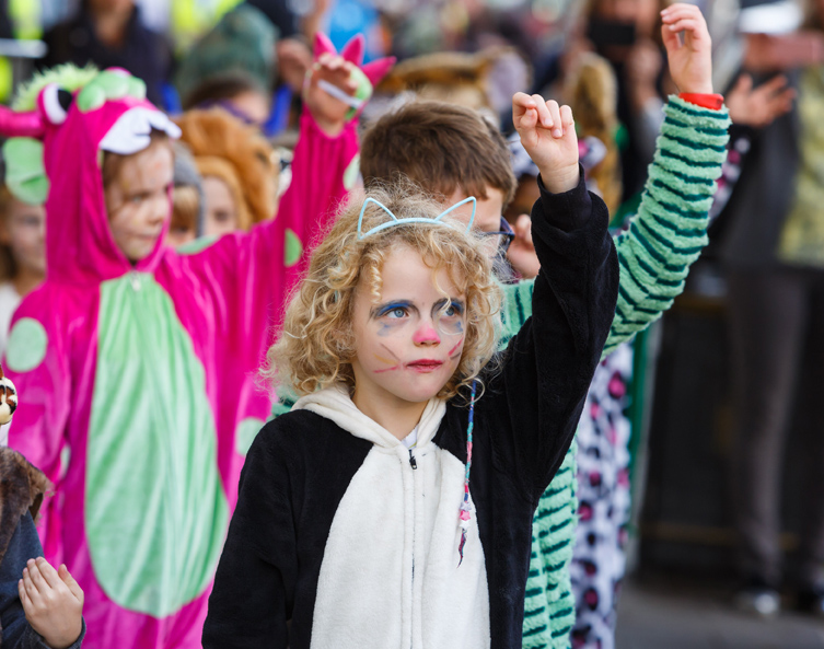 Wild Things in the Flash Mob Dance (Photo copyright Ben Phillips)