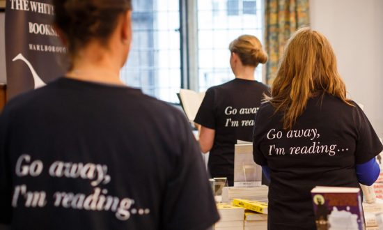 LitFest volunteers in their appropriately frank T-shirts (Photo copyright Ben Phillips)