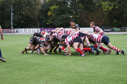 First scrum between the two Nomads teams for 107 years at Rosslyn Park last Saturday (14 October)