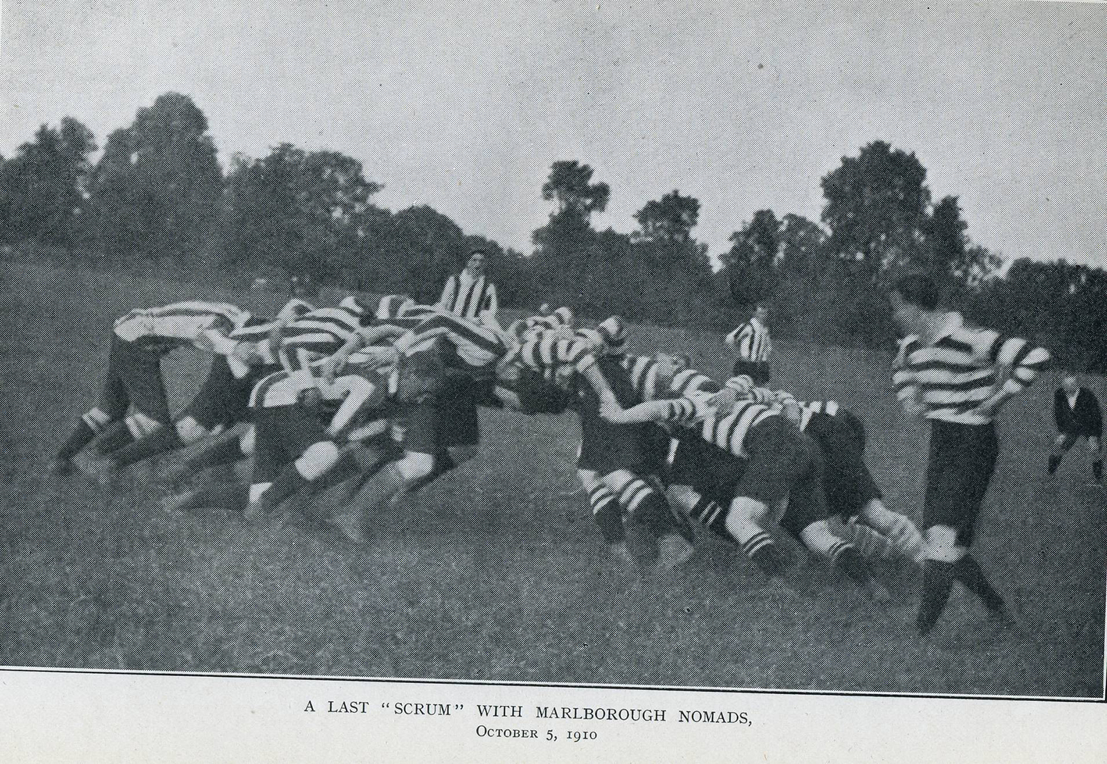 The last scrum between the two original Nomad teams before their merger more than a century ago