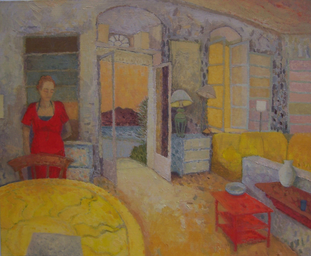 Victoria Jinivizian:  Interior, Patrick & Joan Leigh Fermor's, Kardamyli