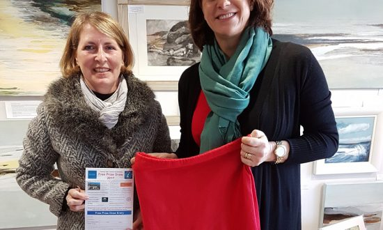 Making the draw: Claire Perry MP with Susie Brew