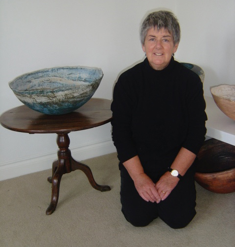 Diana Devonshire with one of her stunning works