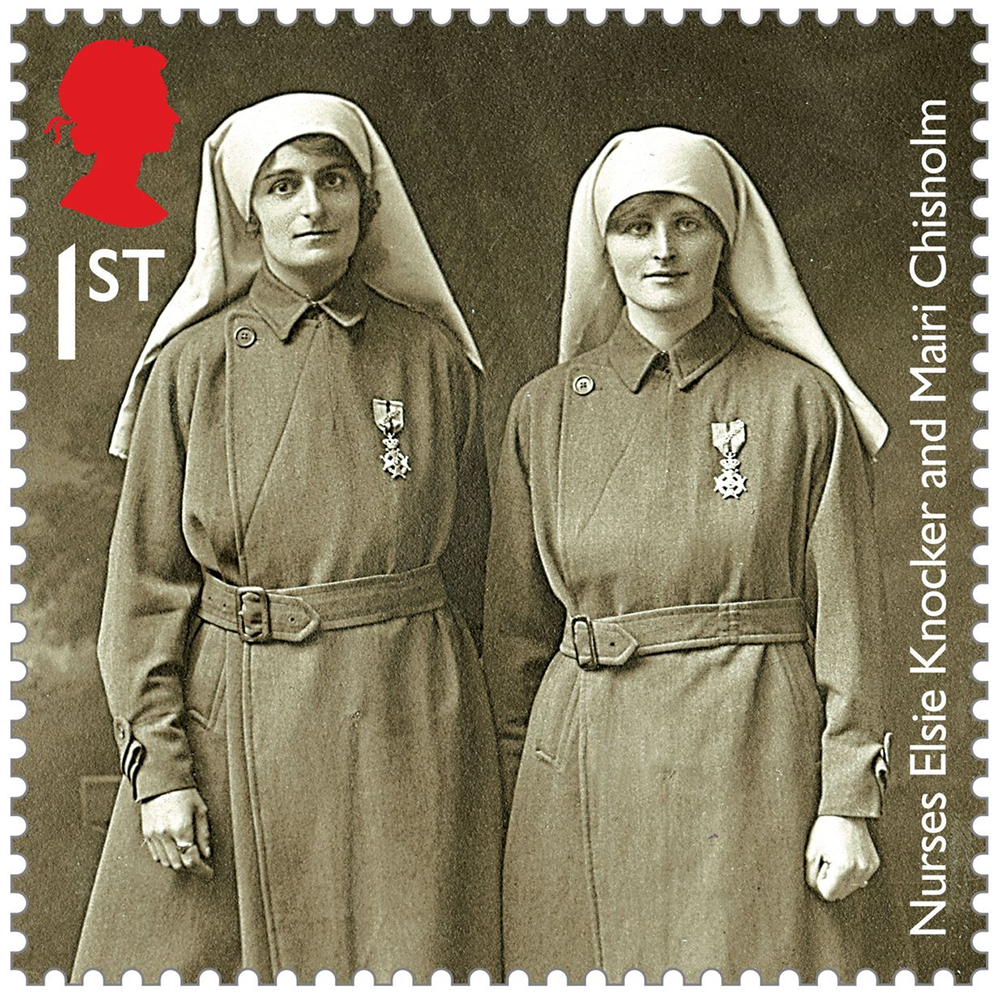Elsie Knocker with Mairi Chisholm commemorated on a special WW1 stamp