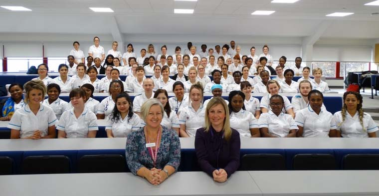 2016's first year students ready for placements with GWH & community nursing
