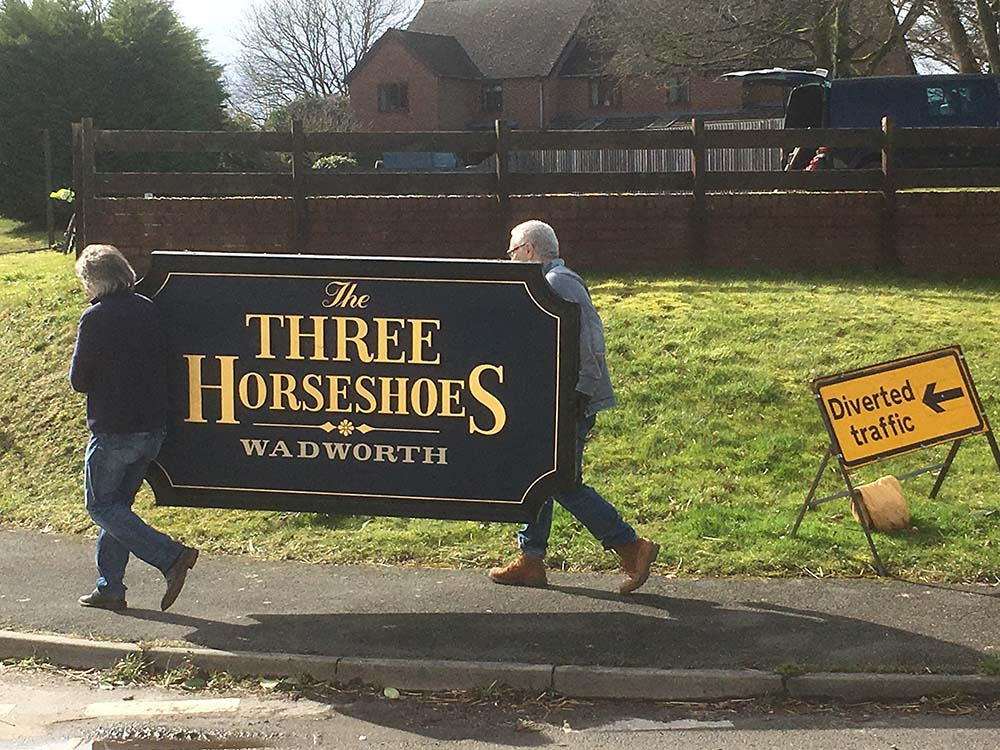 Three Horseshoes:  diverted to where?