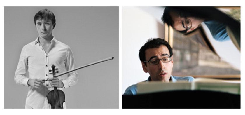 Brieuc Vourch (violin) & Gamal Khamis (piano - photo: Caroline Bettencourt)