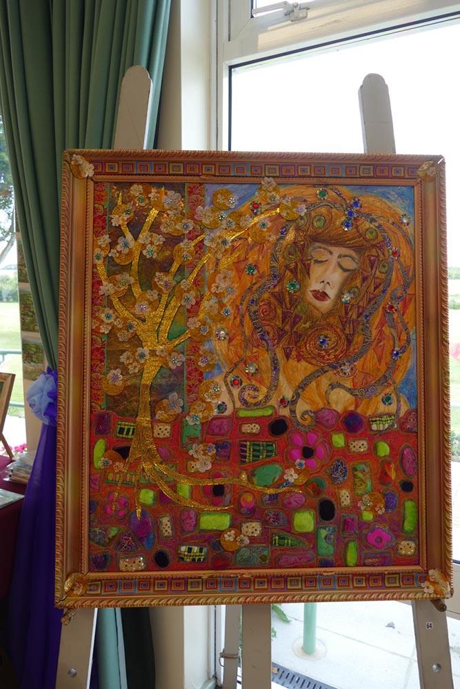Klimt as textile art