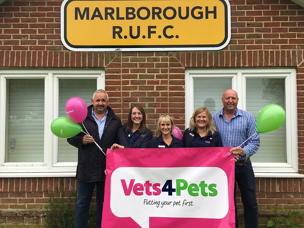 L-R:  Clive Robins – Youth Chairman,  Chloe Chapple – Registered Veterinary Nurse and Owner V4P Marlborough,  Karien White – Veterinary Surgeon and Owner V4P Marlborough,  Amber Dunham – Practice Manager V4P Marlborough,  Paul Carver