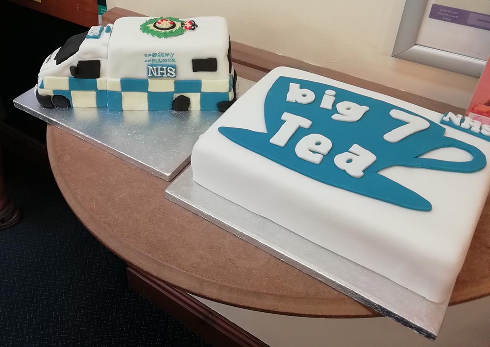 Perfect cakes with which to celebrate the NHS birthday......