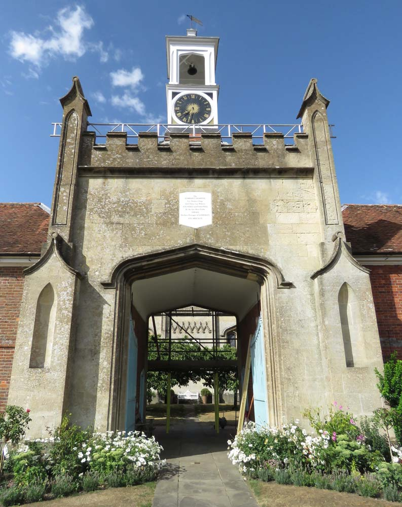 The Froxfield 'alms houses' - where the clock struck eleven