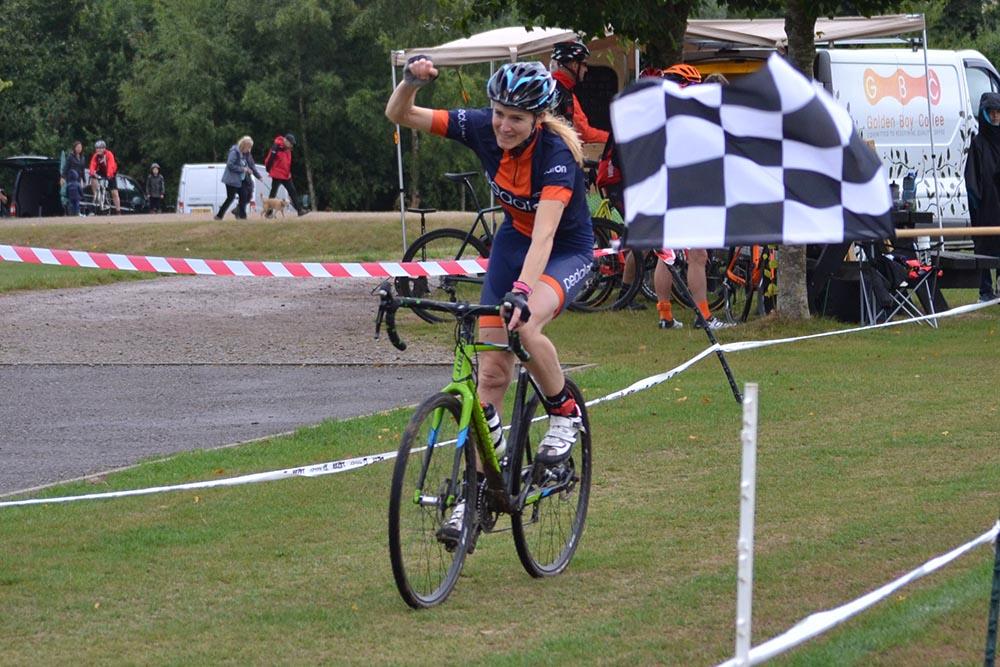 Kate Robson taking her first ever Cyclocross win