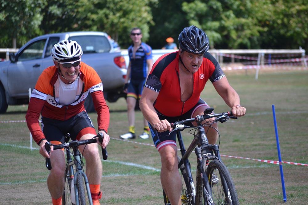 Local derby: (L-R) John Blake and Mark Armitage