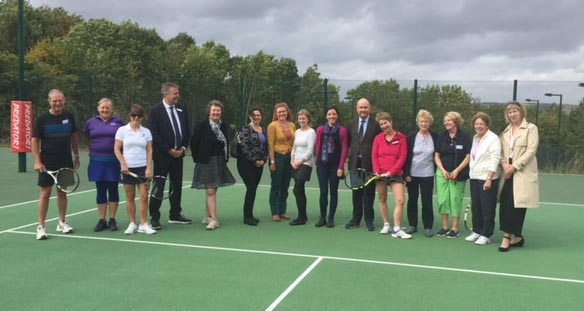 Marlborough Tennis supporters at the launch of the 'Business 200 Club' on one the new Port Hill courts