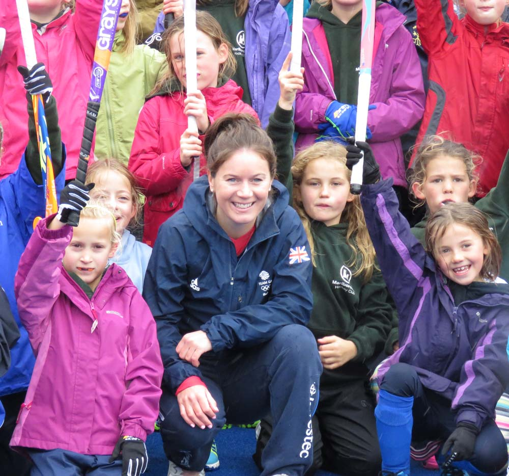 Laura with some MHC juniors...there are many more in the photo below