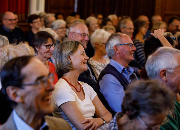 ...and the audience reaction to a Johnson story (Photo © Ben Phillips)
