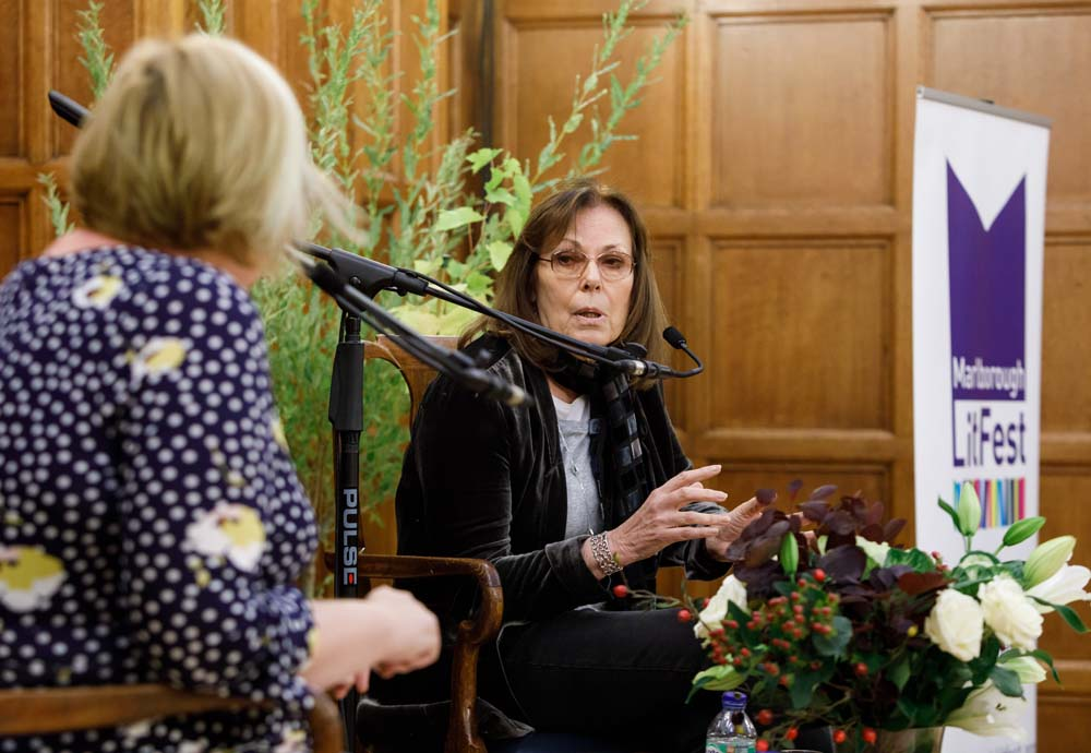 Rose Tremain on stage with Alex Clark (Photo © Ben Phillips)