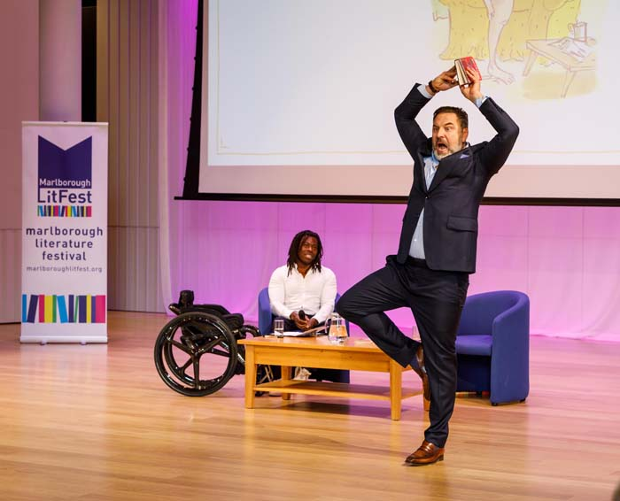 David Walliams - with Ade Adepitan (Photo © Ben Phillips)