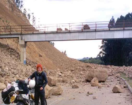 The open road is not always open - a rock fall in Ecuador