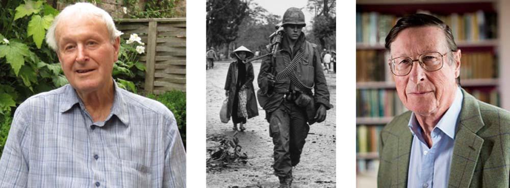Julian Pettifer at home in Marlborough...a scene from the Vietnam war...Max Hastings (courtesy Harper Collins)