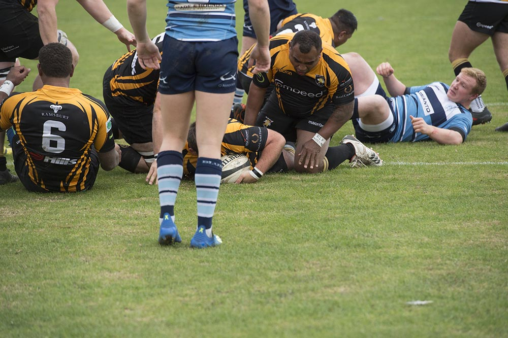 Ashley Horner touches down for the first try of the match in the 5th minute