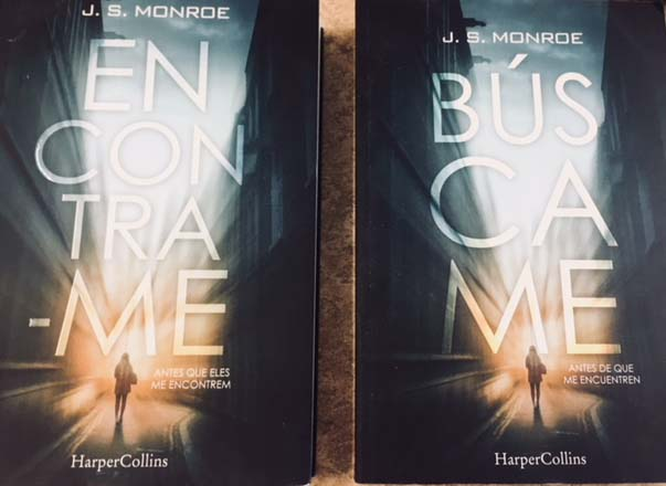 The importance of international sales: Spanish & Portuguese covers for JS Monro's 'Find Me'