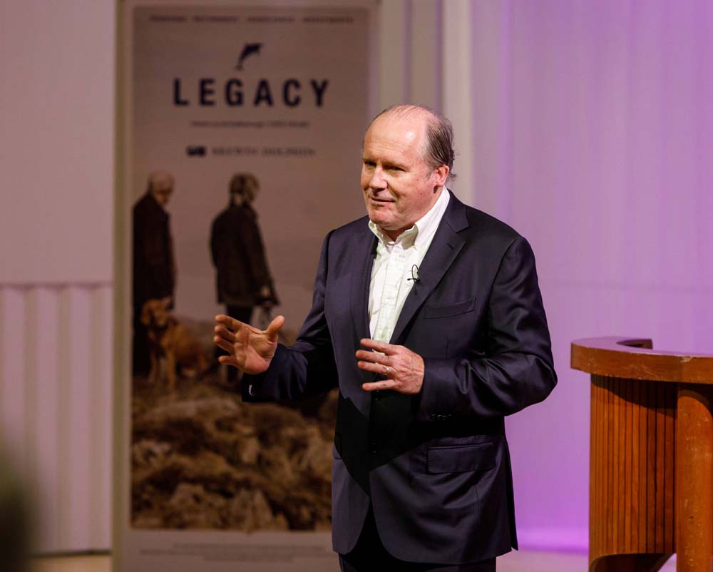 Novelist William Boyd at the Memorial Hall (Photo © Ben Phillips)